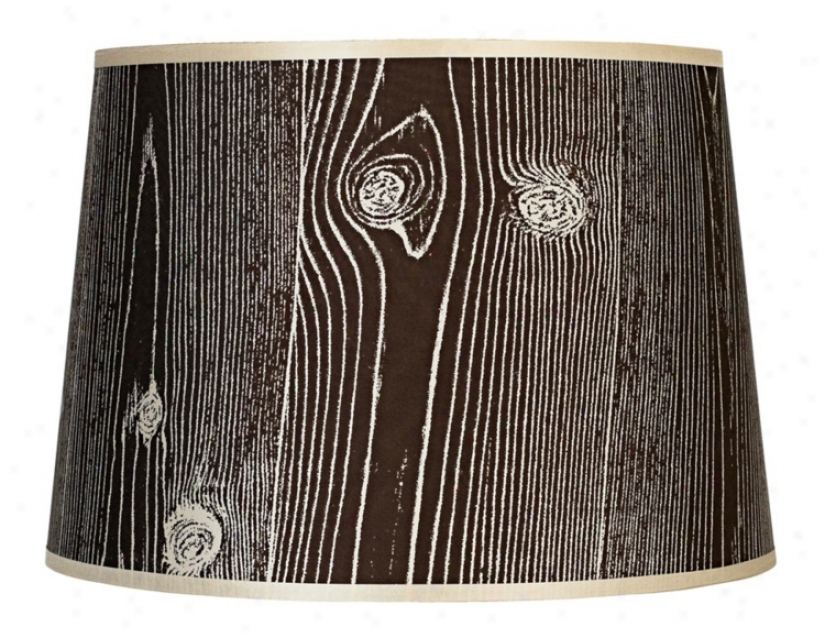 Lights Up! Faux Bois Dark Lamp Shade 12x14x10 (spider) (g7189)