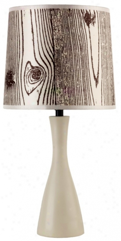 Lights Up! Faux Bois Shade Soy Finish Oscar Table Lamp (t3510)