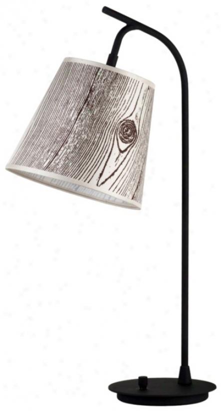 Lights Up! Fois Bois Light Shade Walker Table Lamp (t3484)