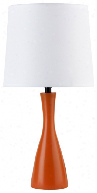 Lights Up! Linen Shade Carrot Perfect Oscar Table Lamp (t3499)