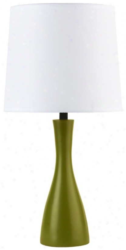 Lights Up! Linen Shade Grass Perfect Oscar Tabls Lamp (t3504)