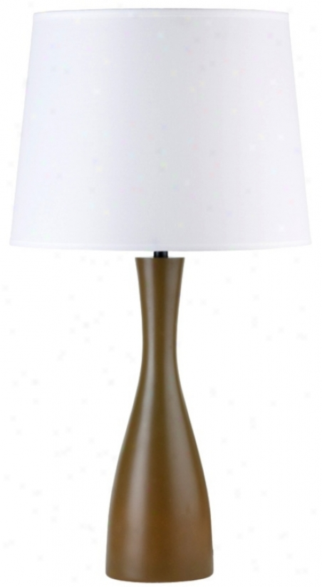 """Lights Up! Linen Shade Olive Oscar 24"""" High Table Lamp (t3531)"""