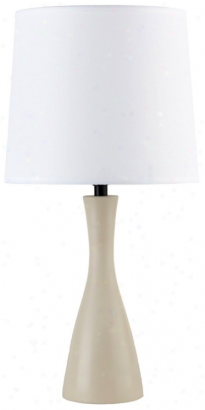Lights Up! Linen Shade Soy Finish Oscar Table Lamp (t3524)