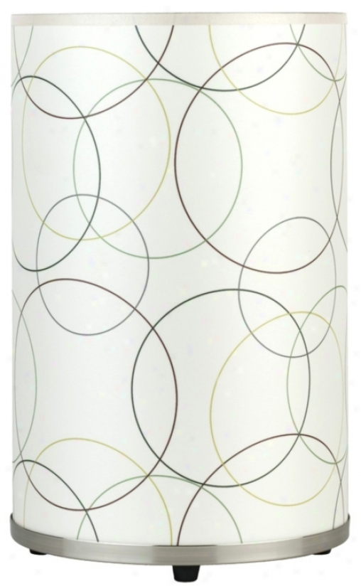 Lights Up! Meridian Medium Circles Table Lamp (t6010)