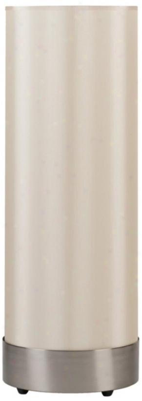 Lights Up! Meridian Nickel Eggshell Shade Table Lamp (t3016)