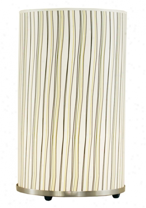 Lights Up! Striped Meridian Large Accent Table Lamp (92208)