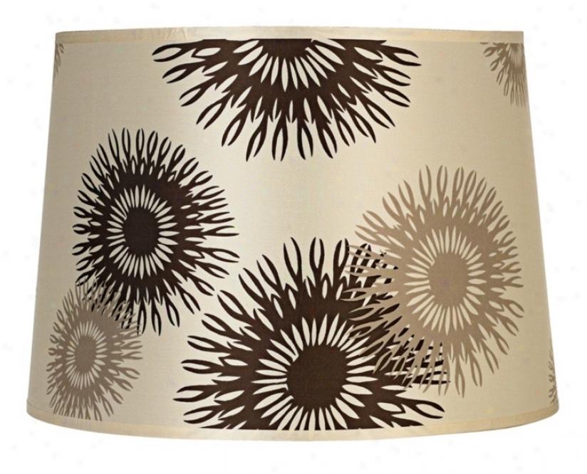 Lights Up! Tan Cornflower Shade 12x14x10 (spider) (t7194)