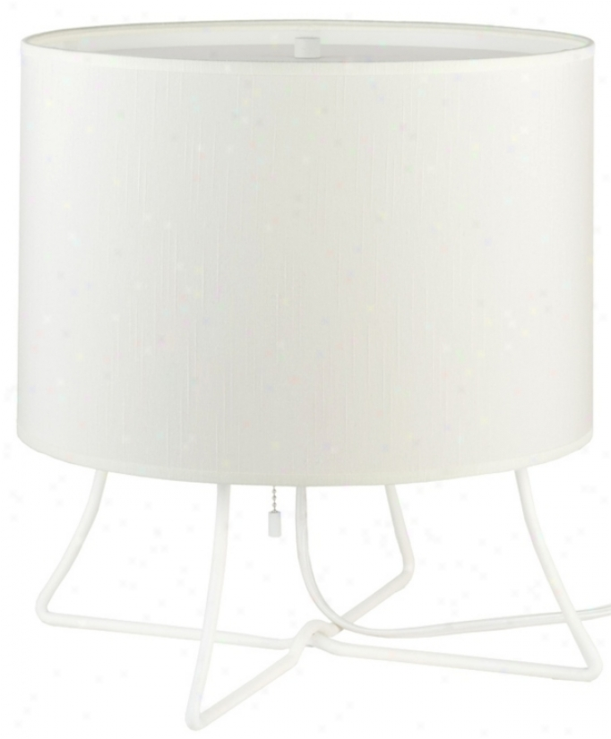 Lights Up! Virgil Low Ivory Ipanema Shade Accent Lamp (t6666)