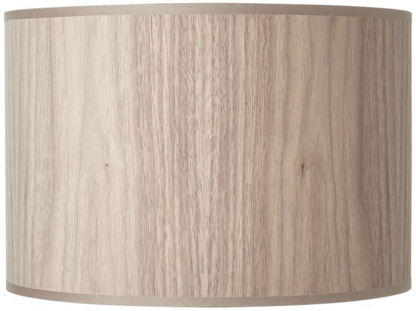 Lights Up! Walnut Wood Veneer Laml Shade 14x1410 (spider) (u6009)