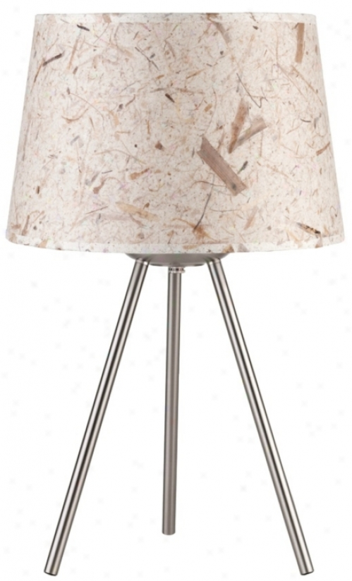 "Lights Up! Weegee Small Mango Leaf Paper 20"" High Tanle Lamp (t6032)"