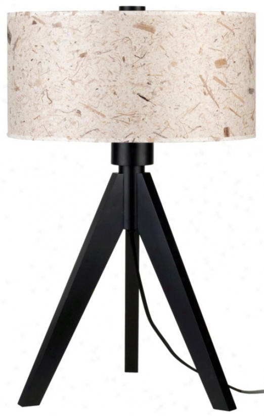 "Lights Up! Woody 28"" High Mango Leaf Shade Table Lamp (t6218)"