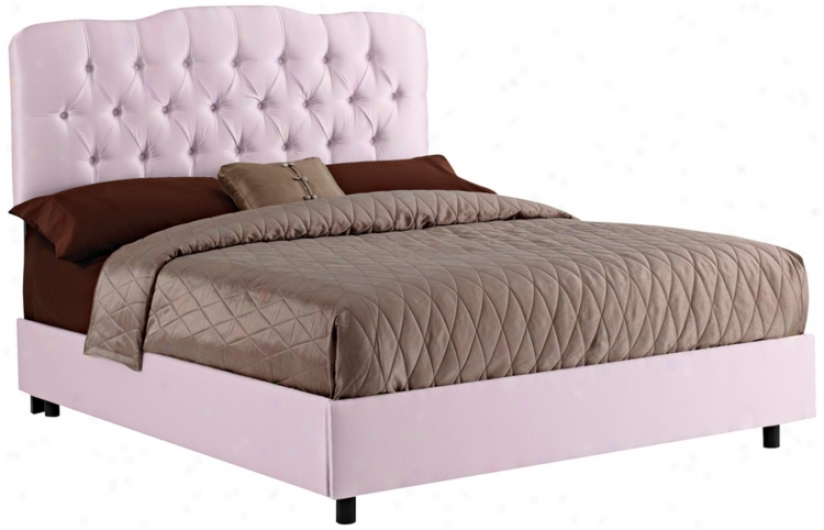 Lilac Shantunng Tufted Bed (full) (n6271)