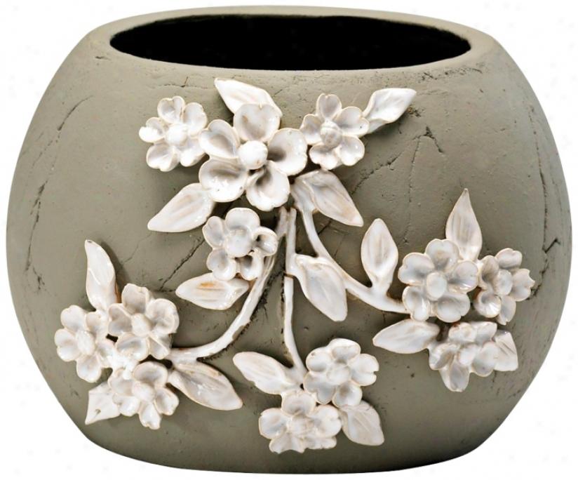 "Lily 5 3/4"" High Smoked Grey Decorative Planter (v0970)"