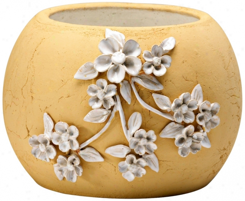 Lily 7 1/4quot; High Terra Cotta Decorative Planter (v0979)