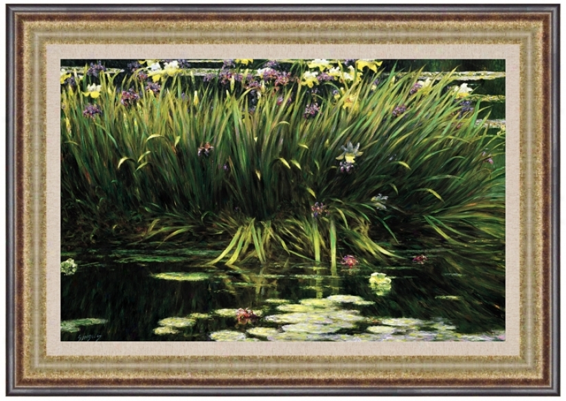 "Lily Pad Pond 37"" Wide Wall Cunning (j5915)"