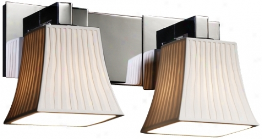 """Limoges Collection 15 1/2"""" Wide Two Light Bathroom Fixture (f7005)"""