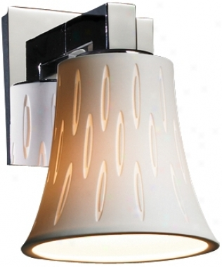 """Limoges Collection 7 1/2"""" High Ovals Wall Sconce (f6999)"""