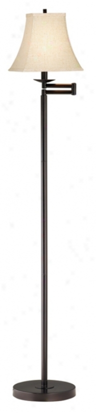 Limen Bronze Finish Swing Arm Floor Lamp (41523-43099)