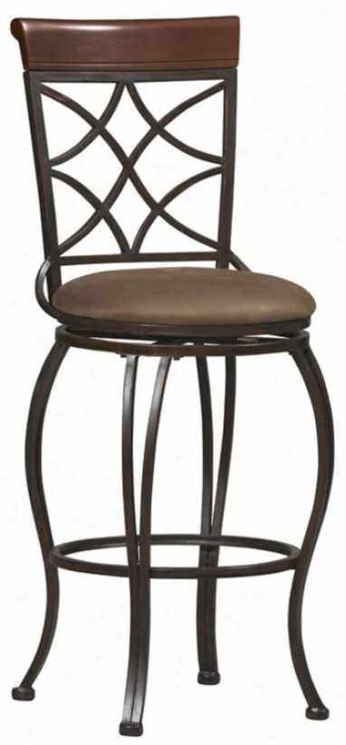 "Linon Curves 30"" High Swivel Bar Stool (m9555)"