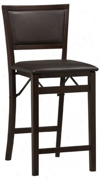 "Linon Triena Pad Back 24"" High Folding Counter Bar Stool (m9443)"