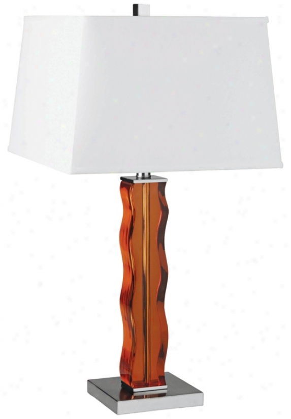 Lite Source Amber Ripple Table Lamp (h3455)