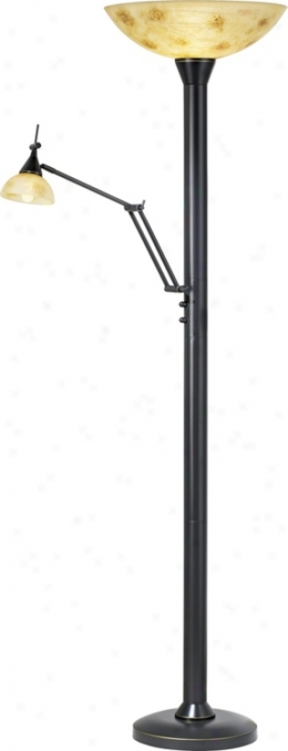 Lite Source Architect's Torchiere Floor Lamp (05014)