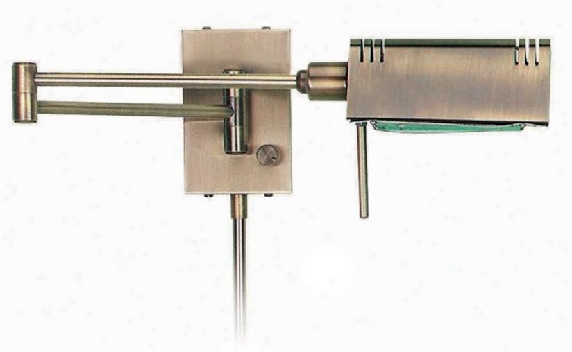 Lite Source Brass Pharmacy Plug-in Swing Arm Wall Lamp (90325)