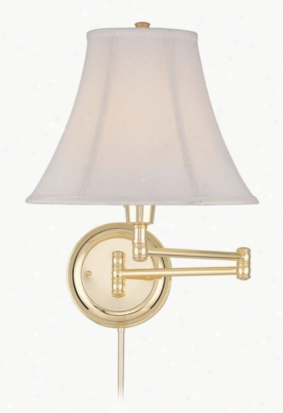 Lite Source Charleston Polished Brass Swing Arm Walk Lamp (37672)