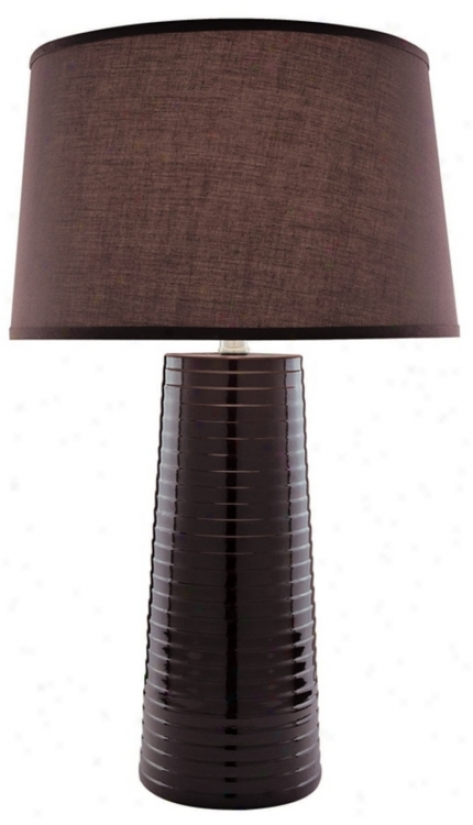 Lite Source Coffee Brown Ceramic Table Lamp (f6565)