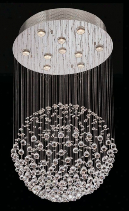 Lite Source Cristallo Crystal 10-light Halogen Pendant (g6420)
