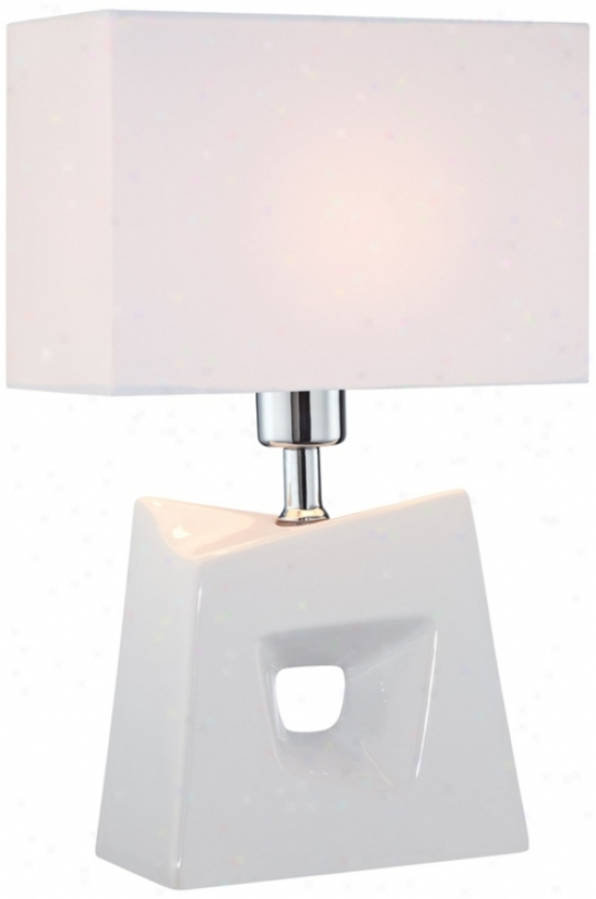 Lite Source Cynthia White Contemporary Table Lamp (v7207)