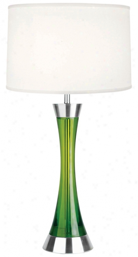 Flower Cause Green Contour Table Lamp (h3458)