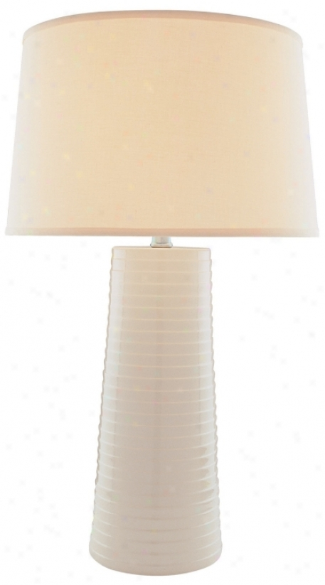 Lite Soufce Ivory Ceramic Table Lamp (f6568)