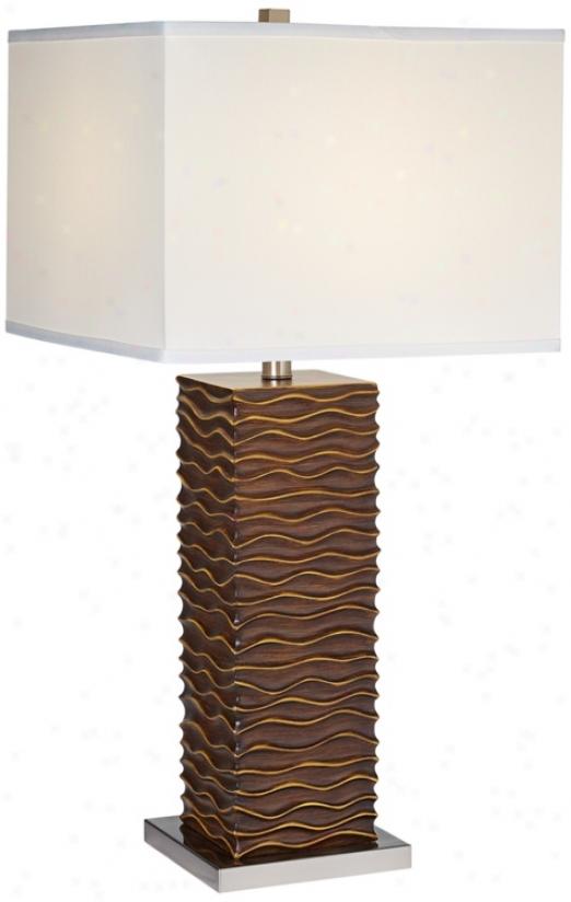 Lite Source Keani Ripple Column Index Lamp (f6501)