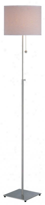 Lite Cause Kina Polished Steel Adjustable Floor Lamp (30288)