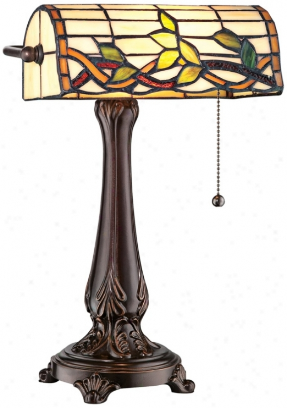 Lite Source Kyleigh Tfifany Style Glass Desk Lamp (v9536)