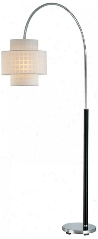 Lite Soource Olina Chrome And Leather Fold Arch Floor Lamp (k3422)