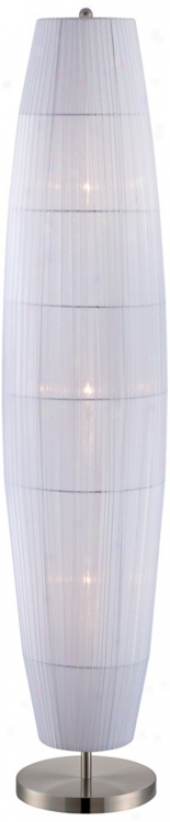 Lite Source Parvati White Organza Ribbon Floor Lamp (v9517)