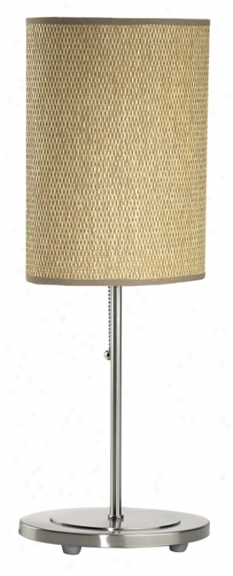 Lite Source Rattan Drum Table Lamp (71535)