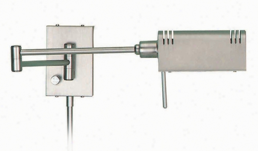 Lite Source Satin Steel Pharmacy Plug-inS wing Arm Wall Lamp (90217)