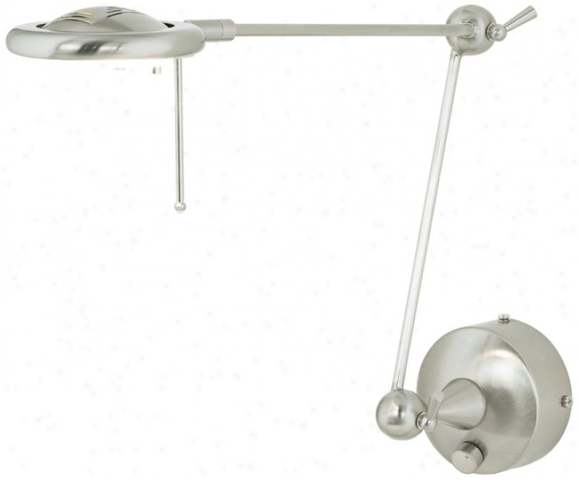 Lite Source Steel Plug-in Adjustable Swing Arm Wall Lamp (h6433)