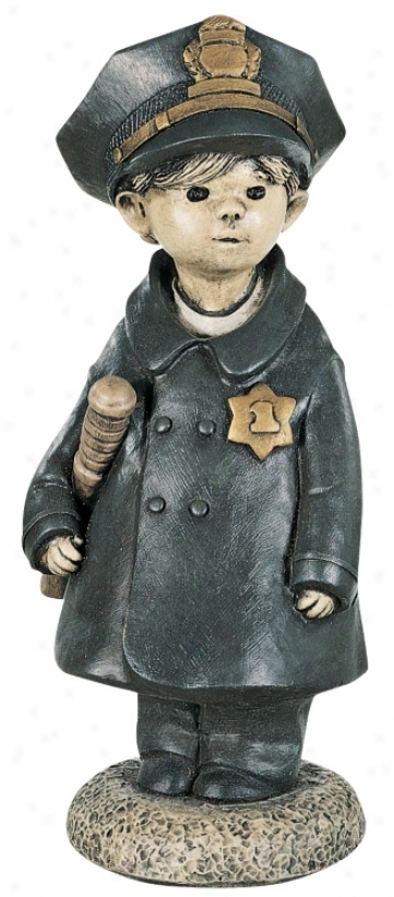 Littel Police Officer Garden Accent (27207)