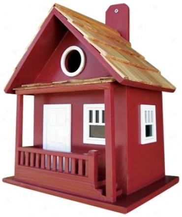 Little Red Hut Bird House (h9690)