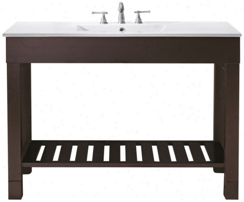 Loft Dark Walnut 49&quot ; Wide Bath Sink Vanity (u0325)