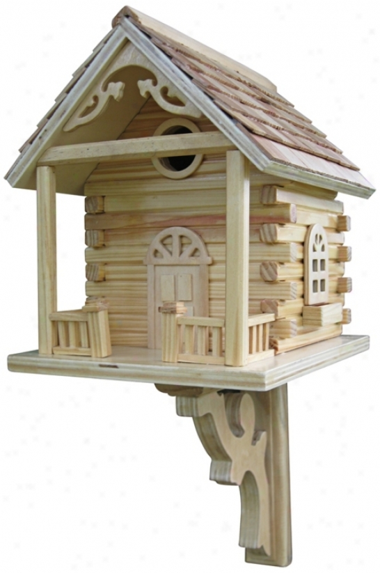 Log Cabin Bird House (h9628)