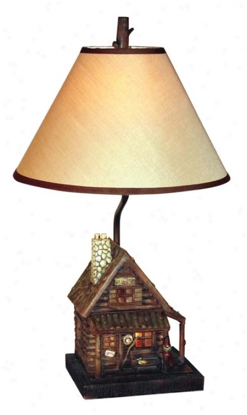 Log Cabin Nihtg Light Flat Lamp (69685)