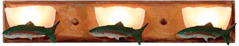 "Logne Collection Trout 24"" Wide Bath5oom Light Fixture (j0502)"
