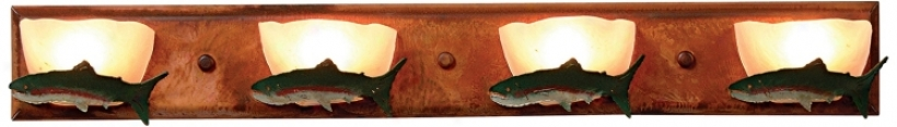 "Logen Collection Trout 33"" Wide Bathroom Light Fixture (j0550)"