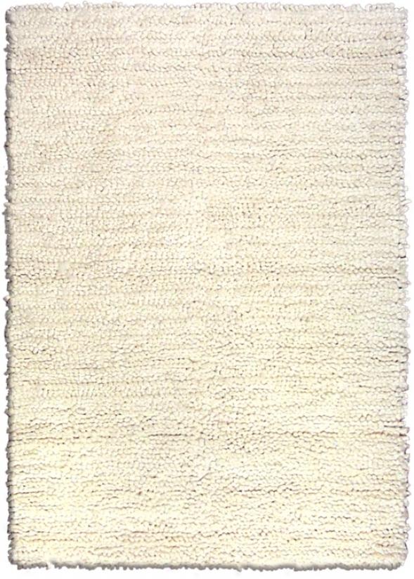 """Lombardi Off-white 6' 7""""x9' 6"""" Shag Area Rug (6f637)"""