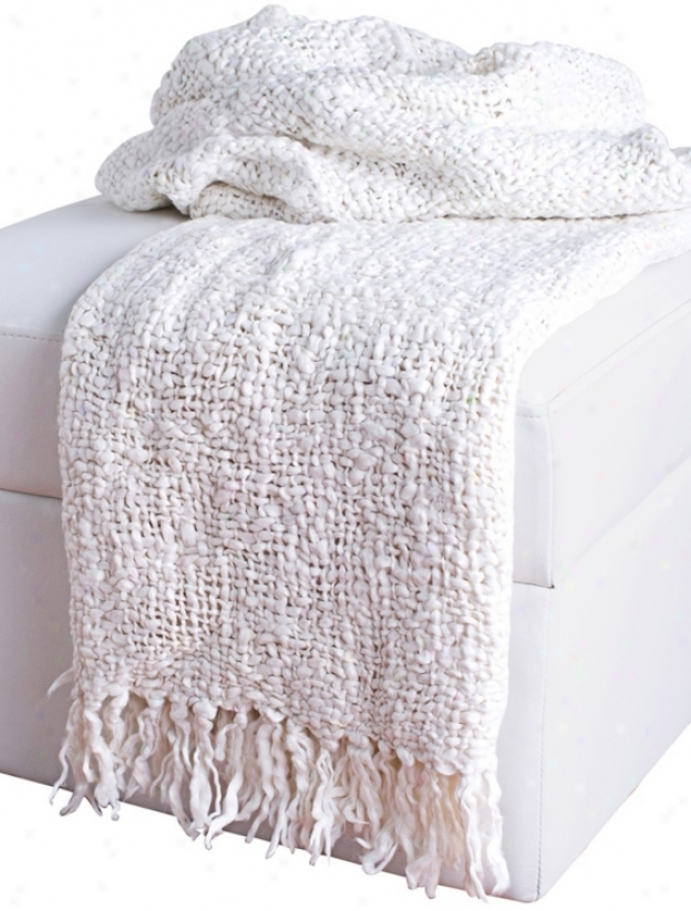 Loom Wov3n Pale Throw With Fringe (v8982)